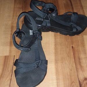 Skecher Black Goga Max Sandals